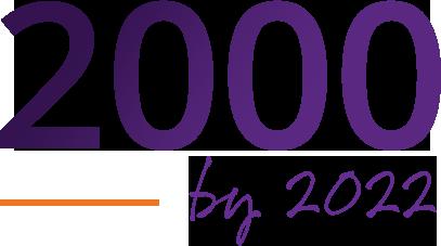 2000 by 2022